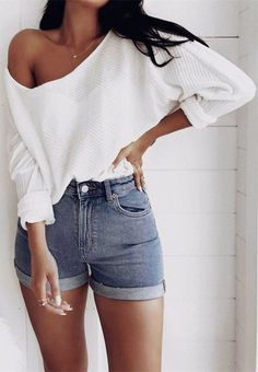 84 Affordable and Casual Summer Outfits for Women - Anziehsachen - Mode Outfits, Short Outfits, Trendy Outfits, Fall Outfits, Fashion Outfits, Womens Fashion, Fashion Trends, Fashion Ideas, Fashion 2017