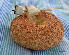 Ka3ek  bel semsem (sesame bread) from Chef in Disguise  Cut open, the bread shows concentric rings