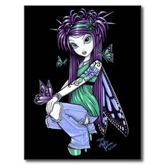 Printed by the artist Myka Jelina on. Myka Jelina is a fantasy artist living in the beautiful Missouri Ozarks. Myka Jelina art, as unique as you are. Fantasy Kunst, Fantasy Art, Fantasy Fairies, Fantasy Dolls, Fairies Photos, Red Tattoos, Butterfly Fairy, Gothic Fairy, Love Fairy