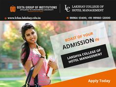 #LakshayCollegeOfHotelManagement visit: http://www.lchm.lakshay.edu.in  or call- 98964-13400, +91-99960-51000 for details.