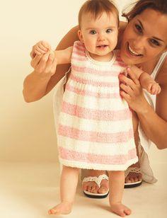 Yarnspirations.com - Bernat First Steps Dress - Patterns  | Yarnspirations