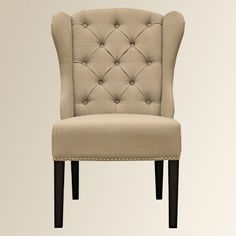 Arhause / 2 wing back dining chairs