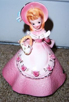 "Pink ""Little Deb"" Vintage Lady Figurine Stauffer Originals /Josef Originals Girl"
