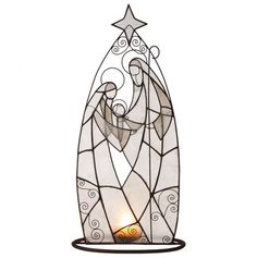 Holy Family Tealight Holder Christmas Nativity Scene, Christmas Makes, Christmas Art, Stained Glass Lamps, Stained Glass Patterns, Mosaic Glass, Fun Crafts, Diy And Crafts, Nativity Silhouette