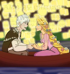 Here's the next one. Like I said in the last one, I used a coloring book to do the outlines. It was hard to do Jack in this, but I managed to have him in it. This is my way of showing what would happen if Jack was in it instead of Flynn. This is also a scene for my finished story Rise of the Tangled Guardians. Jack and Rapunzel are not in love just yet, but they are starting to see something together while they sing. Man I wish there was a duet between Chris Pine and Mandy Moore.