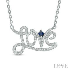 "Vera Wang Love Collection 1/5 CT. T.W. Diamond ""Love"" Necklace in Sterling Silver - View All Necklaces - Zales"