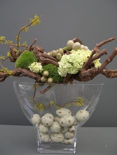 easter centerpiece, decor