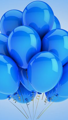 Blue baloons source: wallpaperscraft                                                                                                                                                                                 Mais