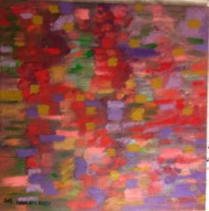 Autumn Leaves NYC - Modern Abstract Impressionist - signed original oil painting