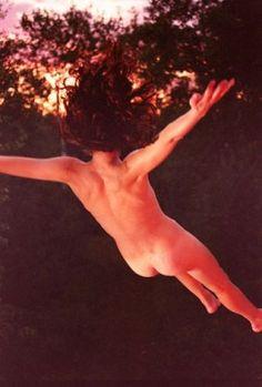 trampoline, strobe, gel    I'm Falling, 2009, Ryan McGinley