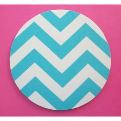 Flash Mousepad Round or Rectangle Mouse Pad Mat Aqua Blue Chevron Zig... ($8.99) ❤ liked on Polyvore featuring home, home decor, office accessories, home & living, office, office & school supplies, silver and round mouse pad