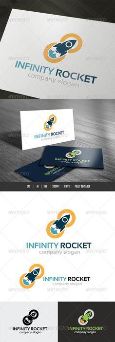 Infinity Rocket Logo — Vector EPS #media #green • Available here → https://graphicriver.net/item/infinity-rocket-logo/6826685?ref=pxcr