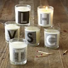 alphabet candles for illuminated writing