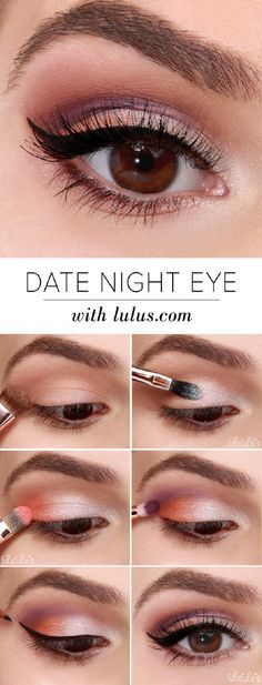 Date Night Eyeshadow Tutorial - 16 Makeup Tutorials to Get the Spring 2015 Look | GleamItUp