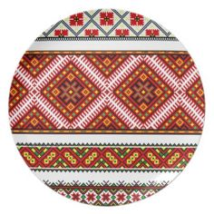 Chinese Aboriginal Tribal Fabric Pattern Dinner Plates