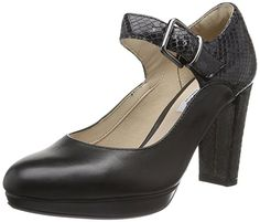 8352af4dda2 Clarks Womens Kendra Gaby Black Leather Shoes Various Sizes
