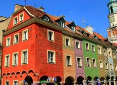 The Colorful Merchants' Houses in Poznań, #Poland