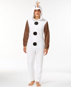 fec3b57e2daa Briefly Stated Olaf Frozen Hooded One-Piece Pajama Suit   Reviews - Pajamas