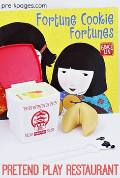 Pretend Play Chinese Takeout Food and a great book to support multicultural learning. Perfect for Preschoolers to Play Restaurant at Home or School. These Sturdy Props Help Make Learning Fun and Meaningful in your Preschool or Kindergarten Classroom!