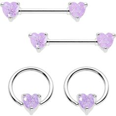 Pair of Purple Passion Tongue Ring-14g-1//2-Straight Cartilage Barbell-Nipple Ring-14 gauge Earring Body Jewelry