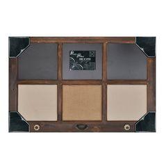 Chalkboard, linen and burlap board