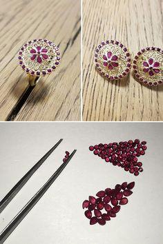 #NaturalGemstones #Rubies #Diamonds #Handmade. Aj pri tomto unikátnom rubínovom skvoste na mieru sa ukazuje, že nie je šperk ako šperk. Za našimi šperkmi nie je iba precízne odvedená ručná práca, ale aj dlhoročné partnerstvá s kvalitnými dodávateľmi tých najlepších farebných kameňov, ako aj so svetovou špičkou v oblasti brúsenia drahokamov. Záleží nám na každom detaile, pretože vy ste našou inšpiráciou a motiváciou v každom kroku od nehmatateľnej idey až k fyzickému zrodu šperku. Bobby Pins, Hair Accessories, Gemstones, Beauty, Gems, Hairpin, Hair Accessory, Jewels, Hair Pins