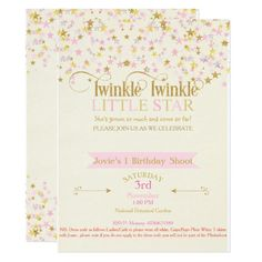 Shop Twinkle Little Star Baby Shower Pink Gold Creme Invitation created by nawnibelles. Star Baby Showers, Boy Baby Shower Themes, Girl Shower, Baby Shower Parties, Baby Shower Decorations, Shower Party, Pink And Gold Invitations, Do It Yourself Baby, Baby Shower Invitation Cards