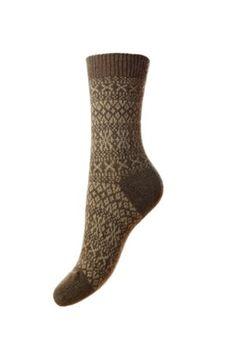 Campbell's of Beauly - Cashmere FairIsle Bed Socks Mink Ladies Socks, Bed Socks, Mink, Tweed, Cashmere, Lady, Women, Fashion, Moda