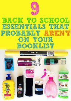 9 Back to School Essentials That Probably Aren't On Your Booklist - School Diy Back To School Essentials, Back To School Hacks, Going Back To School, School Snacks, School Fun, School Stuff, School Ideas, Curriculum, Homeschool