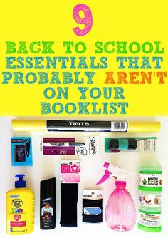 9 essentials for starting back at school that probably aren't included on your booklist this year!