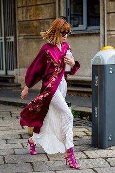 Fashion week street style summer boho 61 Ideas for 2019 Street Style Chic, Looks Street Style, Street Style Summer, Looks Style, My Style, Moda Fashion, Kimono Fashion, Fashion Trends, Fashion Fashion