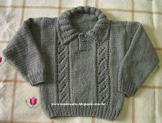 Crochet Blusas Design Crochet et Tricot da Mamis: Blusa Infantil em Tricot - Receita Crochet Bodycon Dresses, Black Crochet Dress, Knit Or Crochet, Knitting For Kids, Baby Knitting Patterns, Knitting Designs, Knit Vest, Baby Cardigan, Tricot Baby