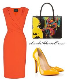 A fashion look from June 2014 featuring cap sleeve evening dress, heels stilettos and pattern bag. Browse and shop related looks. Simple Work Outfits, Classy Outfits, Chic Outfits, Beautiful Outfits, Fashion Outfits, Fashion For Petite Women, Womens Fashion, Corporate Attire Women, Look Vintage