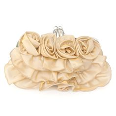 Attractive Silk Floral Small Clutches, Single Deck