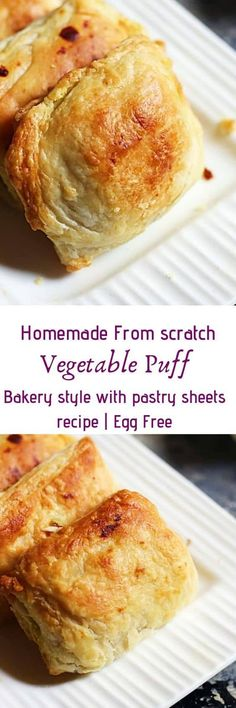 Veg puff recipe Indian bakery style with step by step photos. Learn how to make crispy, flaky and tasty Indian style veg puff with this easy recipe. Eggless Recipes, Oven Recipes, Kitchen Recipes, Snack Recipes, Cooking Recipes, Flour Recipes, Cooking Videos, Veg Puff Recipe, Puff Pastry Recipes