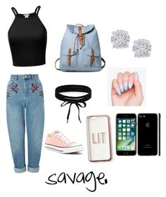 """2k17😍😍😍"" by liltwinki on Polyvore featuring Miss Selfridge, Converse, Boohoo, Effy Jewelry and Missguided"