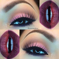 ❤️ Gorgeous Make Up Look in Shades of Pink & Wine! Such a Pretty Valentine's Day Look!