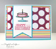 Happily Ever Crafter: Bright Birthday! Stampin' Up! Demonstrator, Angie Britt