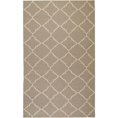 Frontier Collection Wool Area Rug In Grey And Ivory Design By Surya