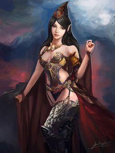 Royalty by Jackiefelixart.deviantart.com on @DeviantArt - More at https://pinterest.com/supergirlsart #female #fantasy #art
