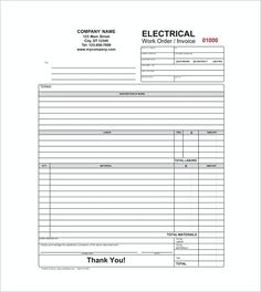 Blank Invoice Templates  Basic Invoice Template And General