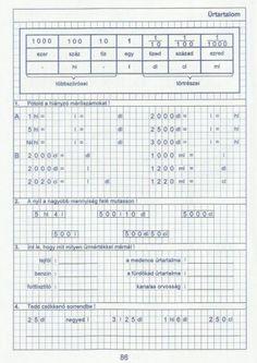 Kiszámoló 4. osztály Periodic Table, Bullet Journal, Words, School, First Grade, Periodic Table Chart, Periotic Table, Horse