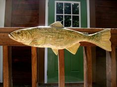 Lake Trout 28 chainsaw wood carved lake fish wall mount home or deck freshwater realistic lake cabin fishing sculpture art