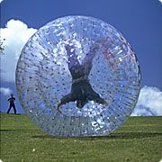 This is a lifelike human hamster ball. You can roll across any terrain for hours of fun! It has 2 openings and has tiny air holes into the ball for breathing. I can't wait to get a few off these and have a blast with my friends! Unique Sofas, Modern Leather Sofa, The Dark One, Things That Bounce, Fun Things, Random Things, Christmas Bulbs, Christmas Decor, Cool Stuff