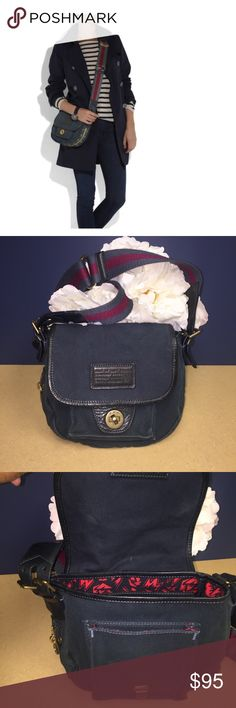 Marc Jacobs Cadet Canvas Bag Cross body length/ great purse. Has fading in color. The flap and front part is darker than the rest of purse. Honestly purse looks quite blended until looking closer nonetheless excellent style and purse for price Marc by Marc Jacobs Bags Crossbody Bags