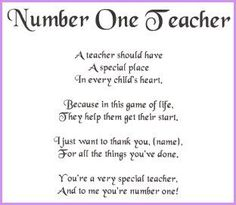 good teacher poems and quotes - Google Search