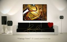 """Vintage Vows"" by wine artist © Leanne Laine Fine Art #wineart #winepainting"