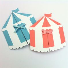 Circus Tent invitation folder. Circus, carnival birthday party, baby shower.