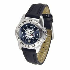 Connecticut Huskies Sport AnoChrome Ladies Watch with Leather Band by SunTime. $53.10. Rotation Bezel/Timer. Calendar Date Function. Scratch Resistant Face. This handsome, eye-catching watch comes with a genuine leather strap. A date calendar function plus a rotating bezel/timer circles the scratch-resistant crystal. Sport the bold, colorful, high quality NCAA Connecticut Huskies logo with pride.The AnoChrome dial option increases the visual impact of any watch with a s...