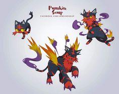 Pokemon Sun and Moon Fan Art Starter Evos #pokemon #pokemonsunandmoon #fanart #starters #litten